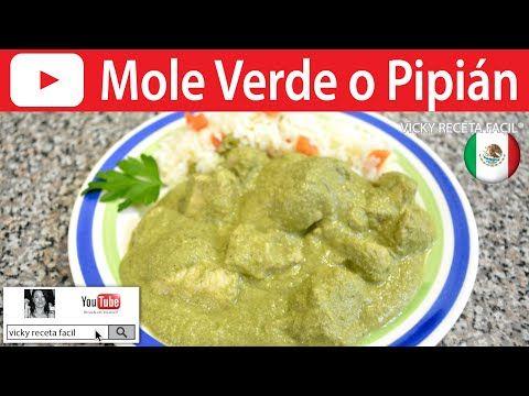 CÓMO HACER MOLE VERDE O PIPIÁN   Vicky Receta Facil - YouTube