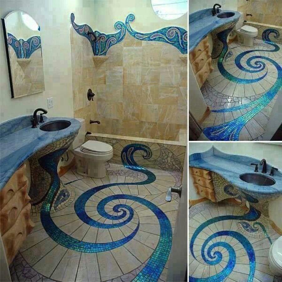 Mermaid bathroom tile DREAM HOME THINGS Pinterest Mermaid