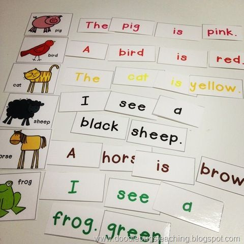 These scramble sentences would be easy to make on your own with - make a t chart in word