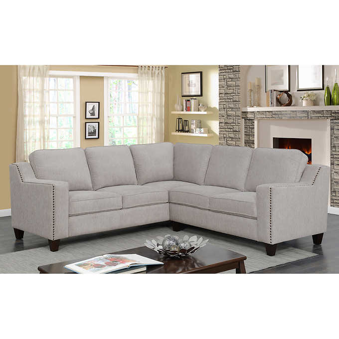Ellendale Fabric Sectional In 2020 Fabric Sectional Sofas