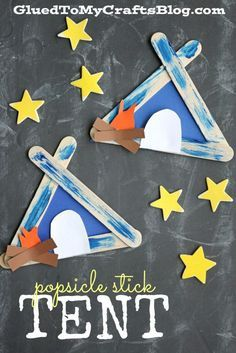 Popsicle Stick Tent  Kid Craft is part of Simple Kids Crafts Summer - Summer Camp Themed Popsicle Stick Tent  Kid Craft