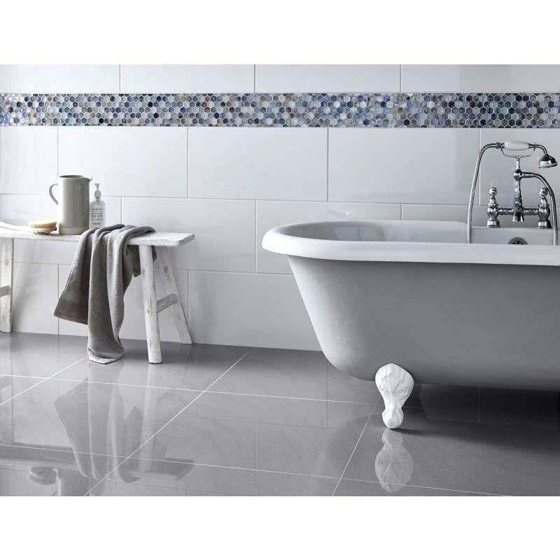 Gloss Bathroom Tiles Rectified Gloss White Wall Tile White Gloss Bathroom Tiles Grey Floor Tiles Gray Tile Bathroom Floor Bathroom Wall Tile