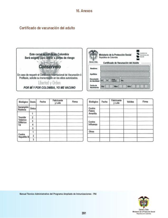 Image result for carnet de vacunas contra el tetano embarazo en - dj invoice