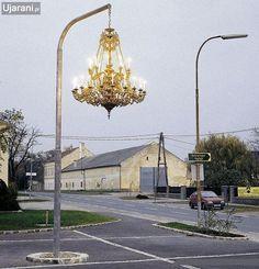 lantern street art advertising - Google Search