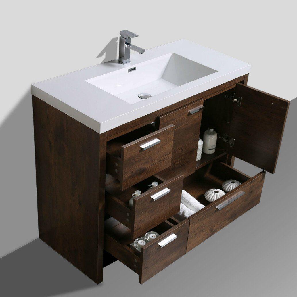 Gerard Free Standing Modern 41 Single Bathroom Vanity Set Single Bathroom Vanity Vanity Rustic Bathroom Vanities