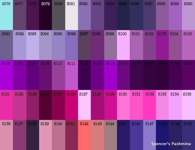 Violent Violet Pashmina Color Chart Pinterest Colors