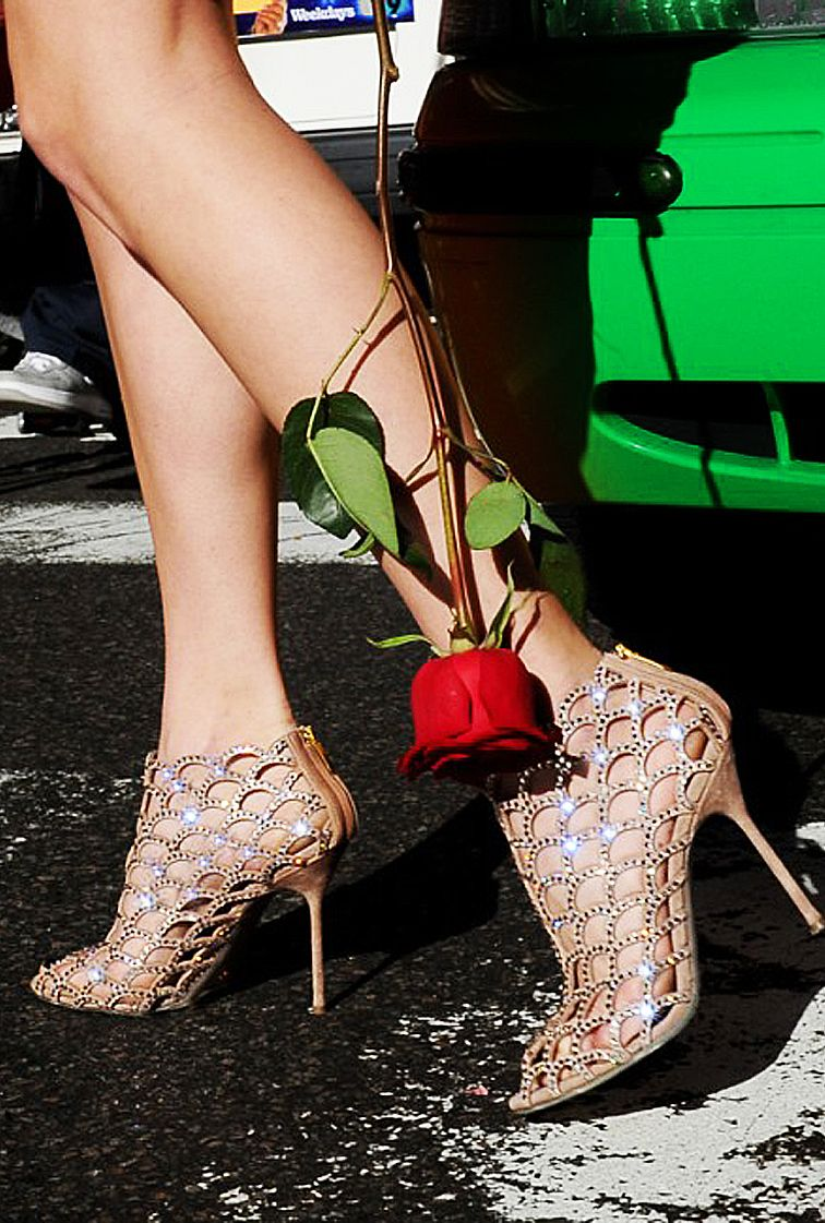 5a5f999530e5f9 Sergio Rossi Mermaid Crystal Ankle Boot Sandals Spring 2014  Shoes   HighHeels  Heels