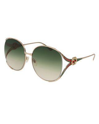 c3bc8ca56a Gucci Oval Web GG Sunglasses