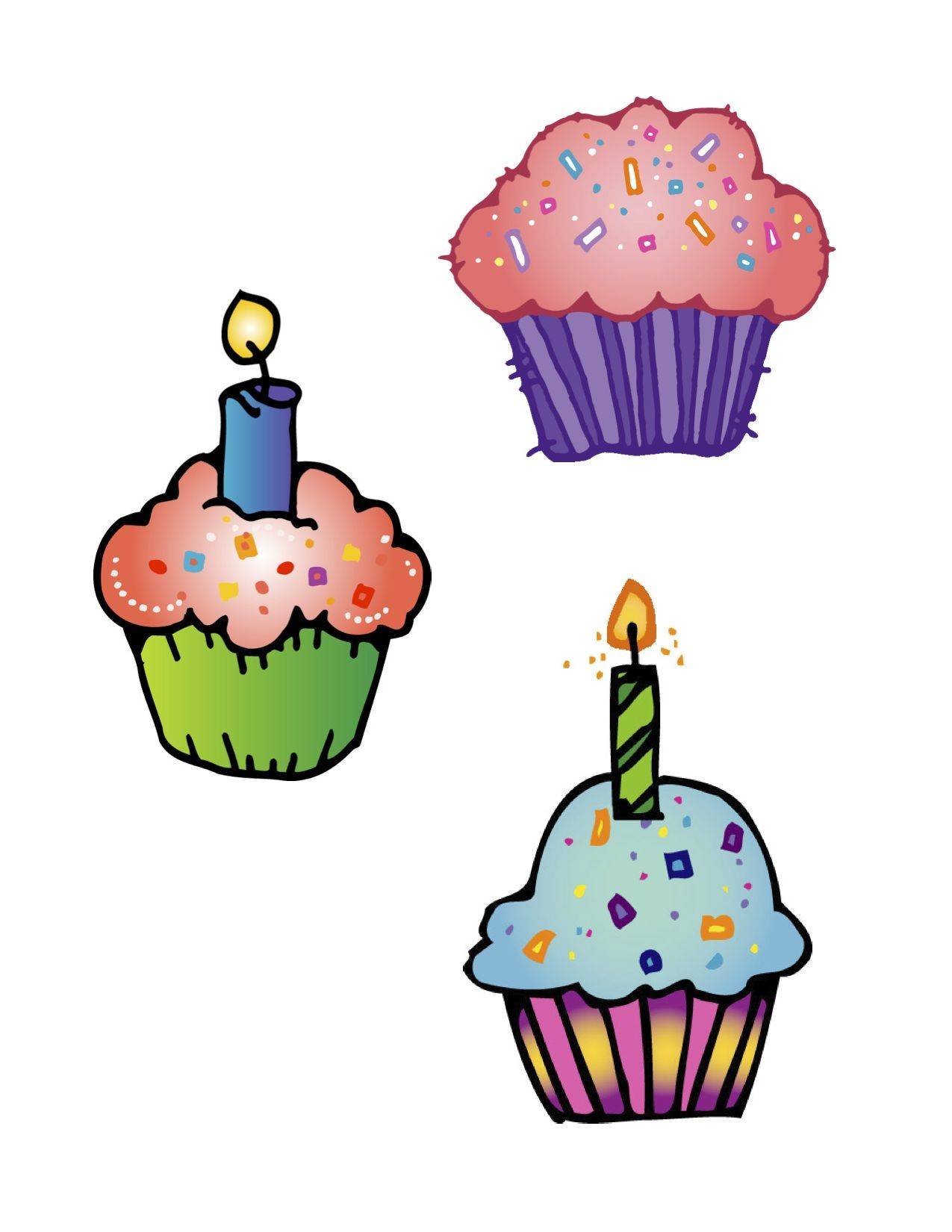 cupcake clipart for birthdays useful things pinterest clip art rh pinterest com birthday cupcake clipart free birthday cupcake clipart images