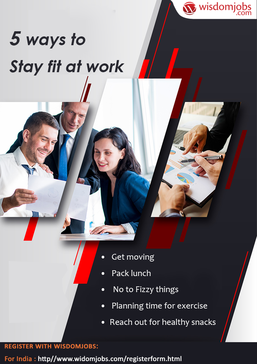 do you know how to stay fit at workplace  for more such