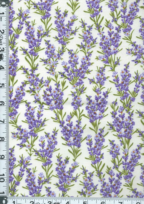 Fabric Timeless Lavender Flowers Stalks On Cream Fragrant Herb Flowers C2985 Bty Timeless Treasures Lavender Flowers Foliage Wedding Decor