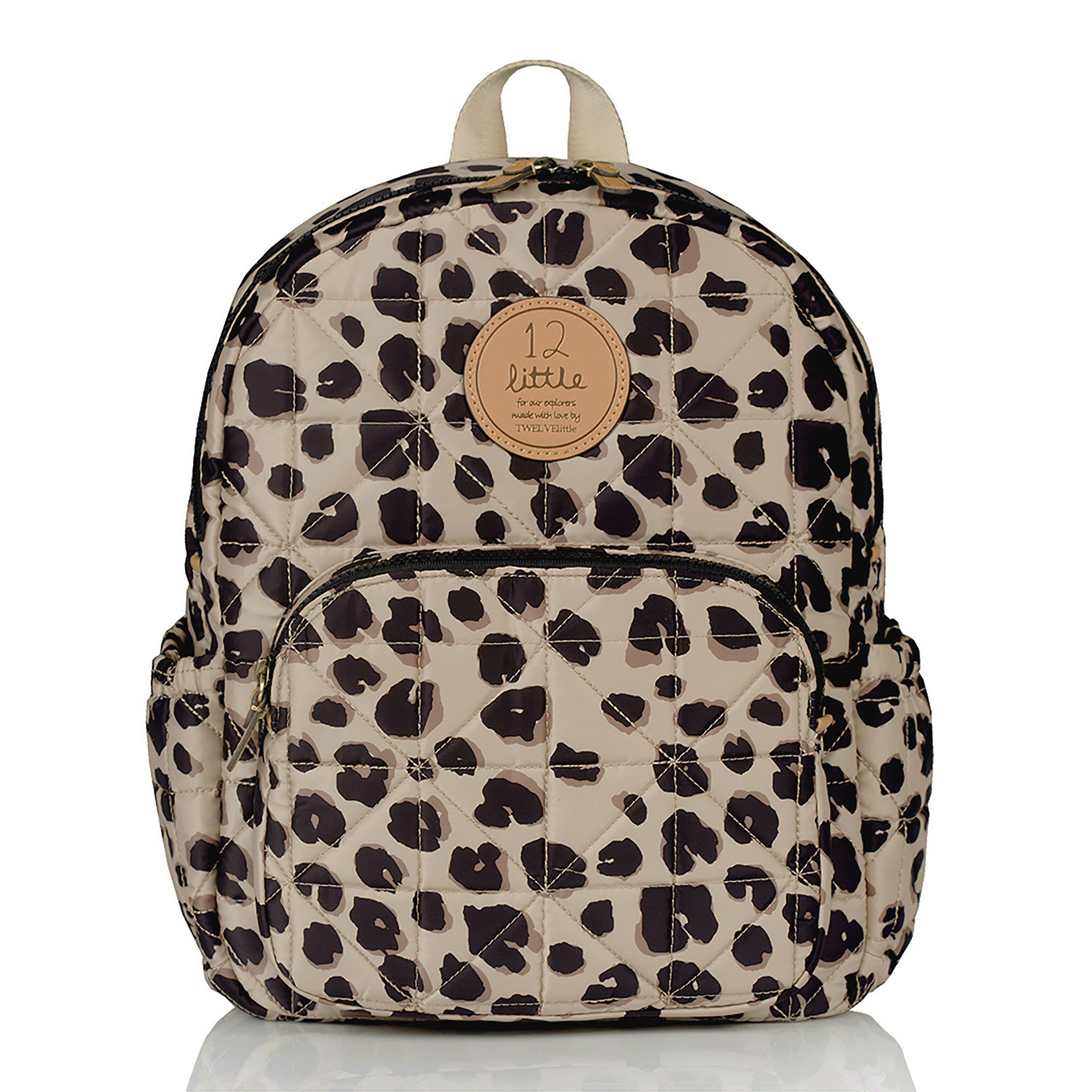 12littleKids Little Companion Backpack in Leopard Print  Quilted and  water-resistant coated smooth exterior fabric. 12 animal print lining with  a name card ... 1e9d47078b634