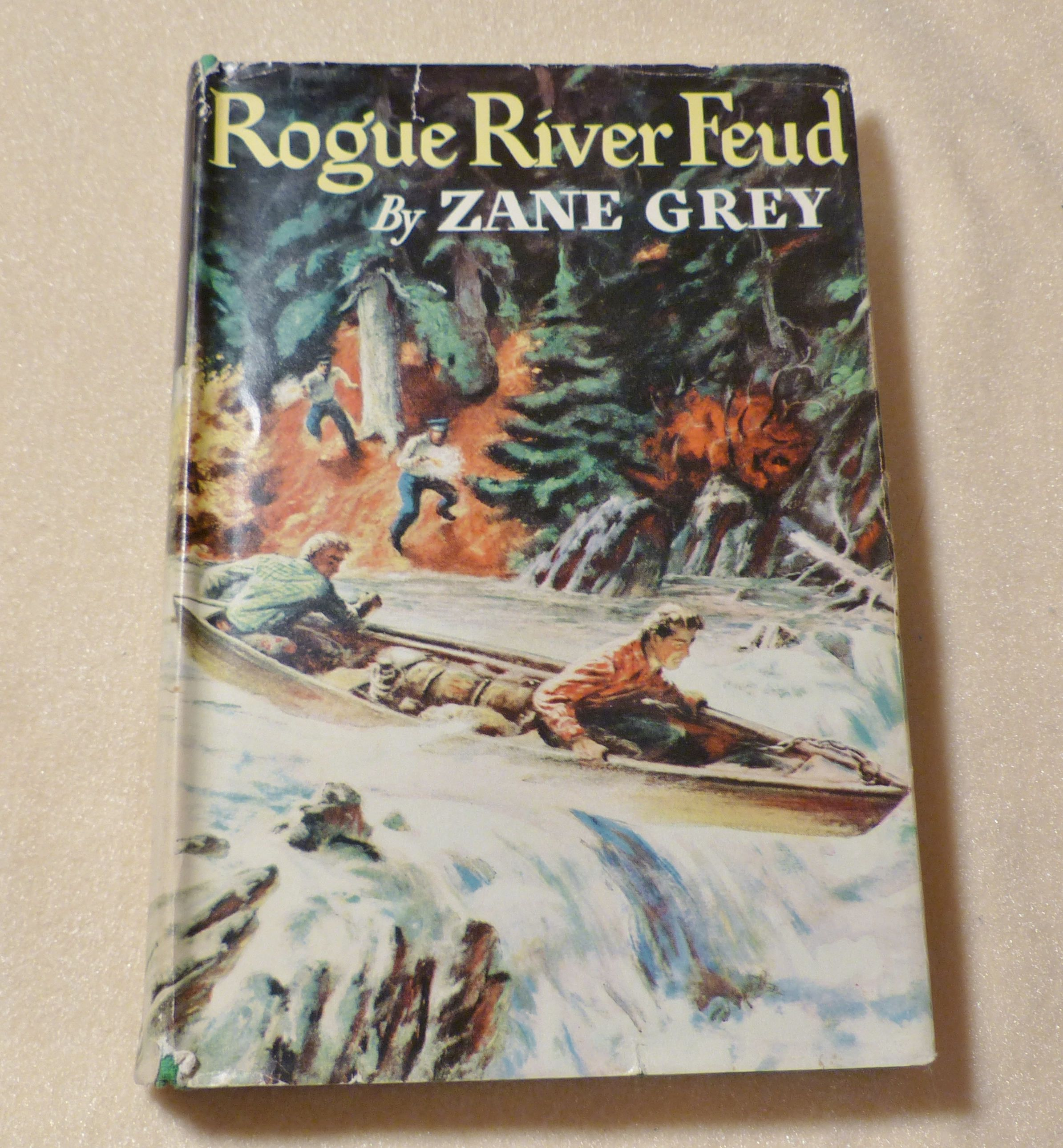 Rogue River Feud Zane Grey Novel Antique Book Vintage Collectible Amercian West Gift