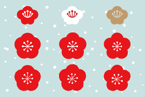梅の花の無料イラスト Graphic Resources 正月 イラスト 新年