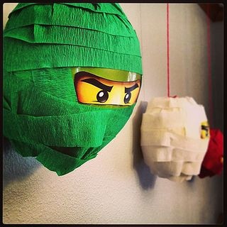 Photo of Green Ninja Balloons. #ninjago #lego