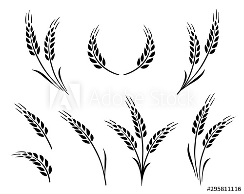 Wheat Wheat Grain Grain Wheat Wheat Clipart Png And Vector With Transparent Background For Free Download Farm Logo Farm Logo Design Vintage Logo Design