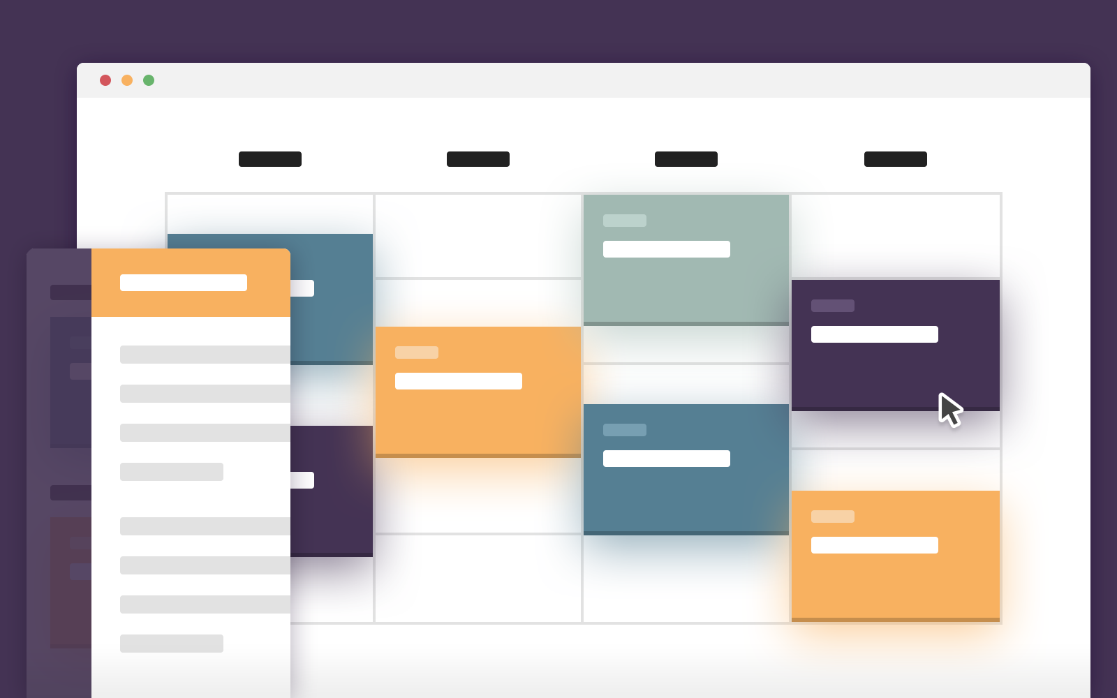 Schedule Template – Display events on a timeline (CSS