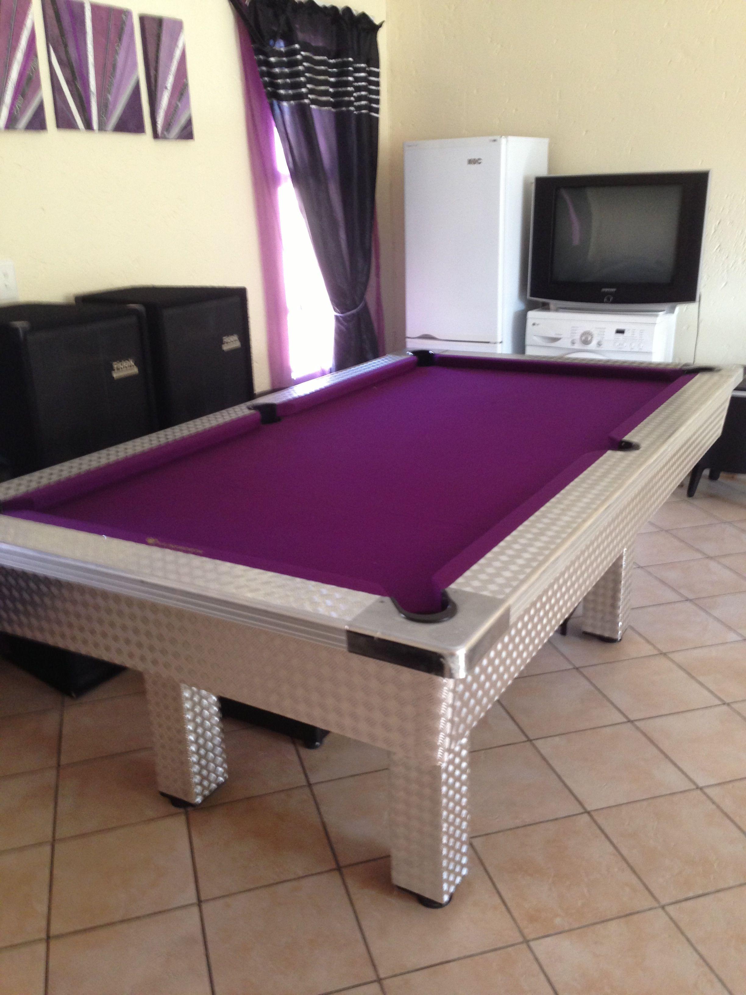 My Purple Pool Table 1