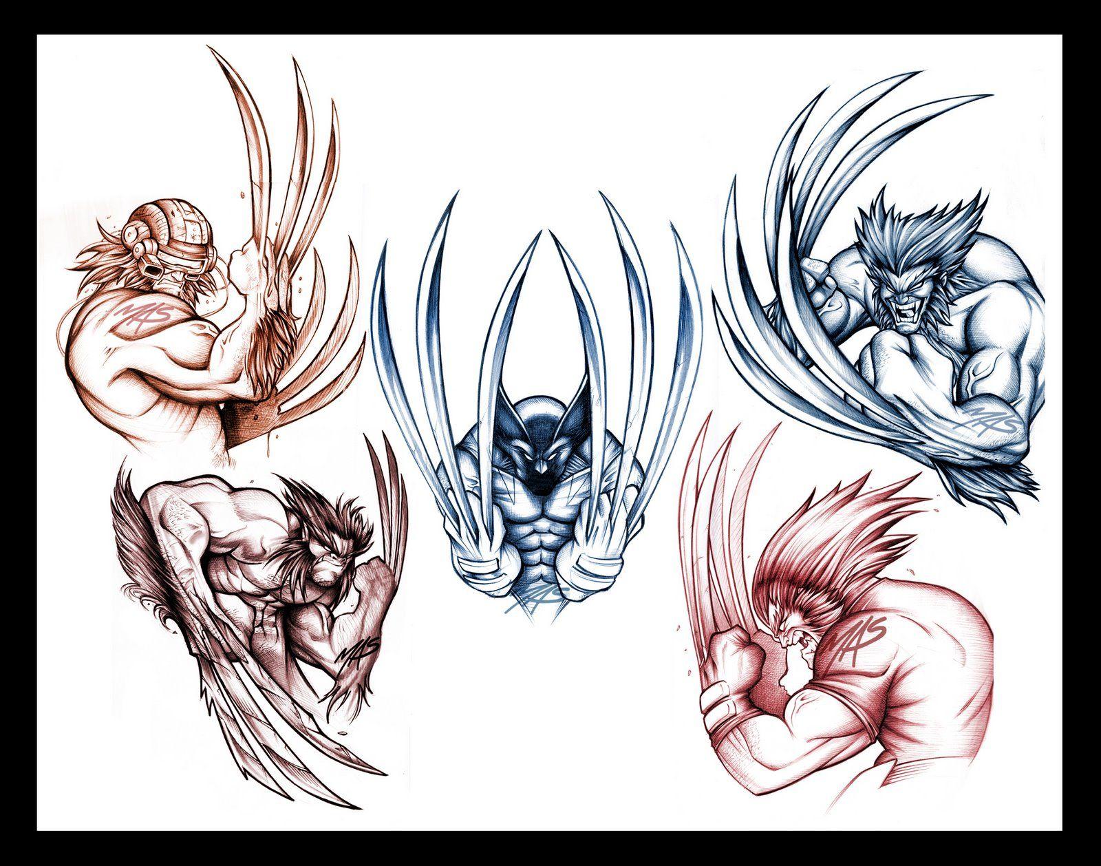 wolverine tattoo sketch concepts i whipped up mas sketchwork pinterest wolverine tattoo. Black Bedroom Furniture Sets. Home Design Ideas