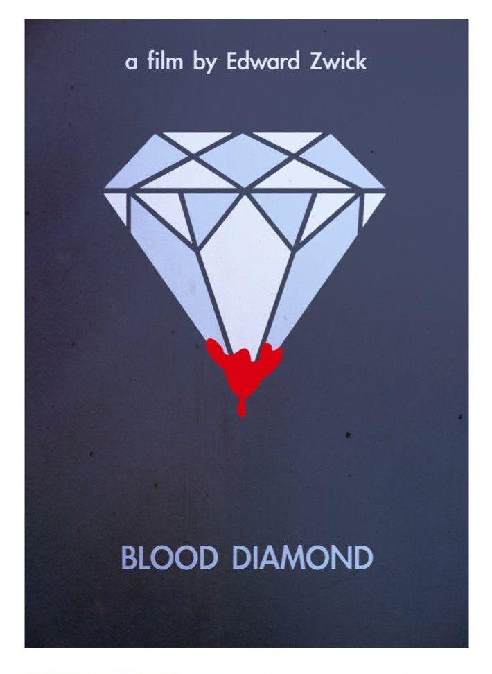 Blood Diamond (2006) ~ Minimal Movie Poster by David Peacock