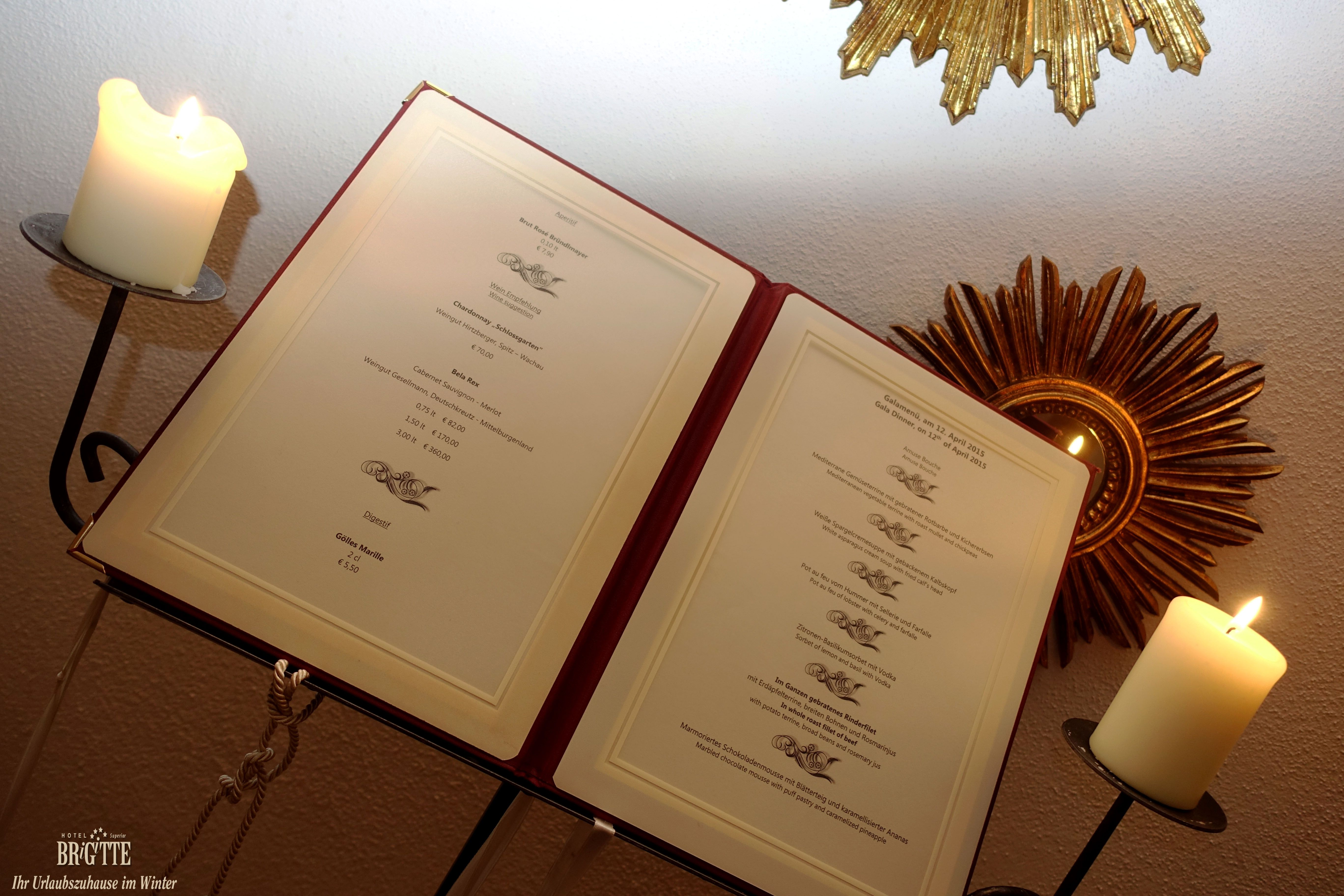 Eingang Speisesaal  #hotelbrigitte #ischgl #austria #galadinner #dinner #genuss   www.hotel-brigitte-ischgl.at