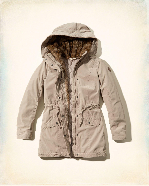 Hollister Heritage Faux Fur Lined Parka Girls Parka Jacket Outerwear Jackets Girls Jacket [ 1450 x 1160 Pixel ]