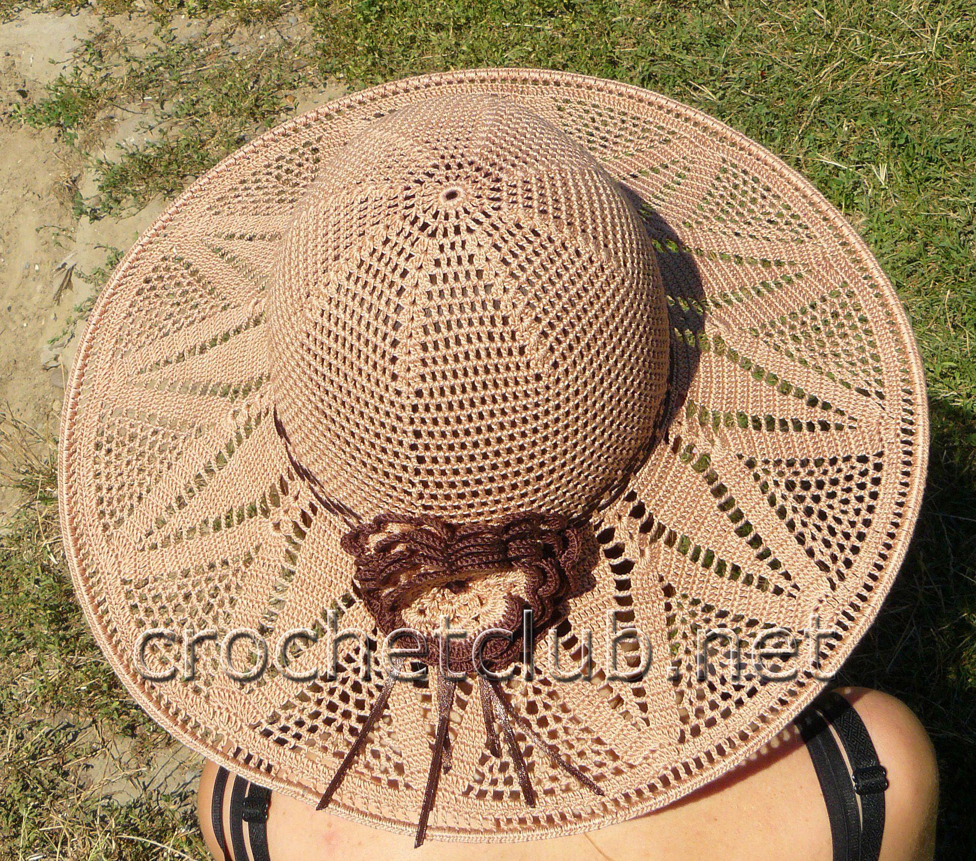 Летние женские шляпки со схемами
