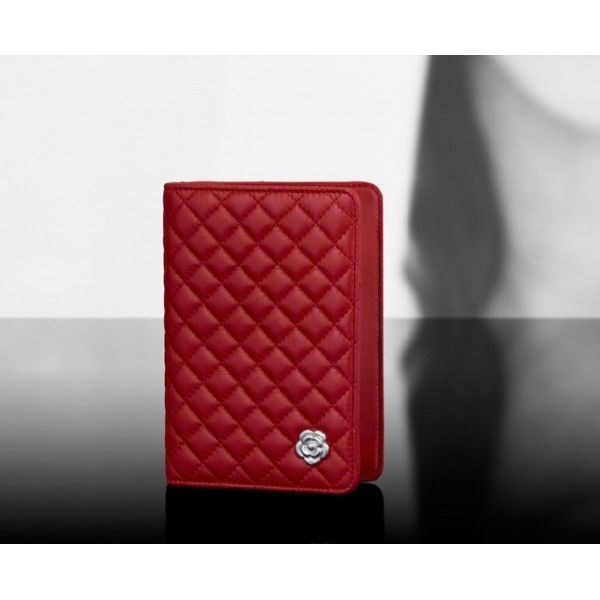64a7fab1acb5 CHANEL Passport holder with Camellia on bottom | CHANEL | Chanel ...