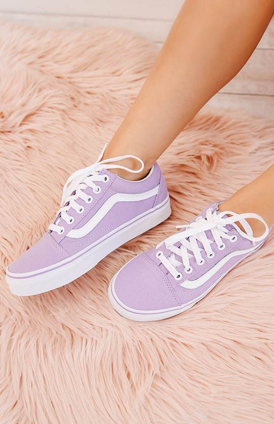 6818a78cea Vans Old Skool Sneaker - Lavender True White from peppermayo.com ...
