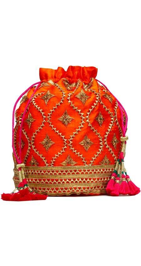 cb6956812 cute gota patti work Cute bag... | gota in 2019 | Potli bags, Bags ...