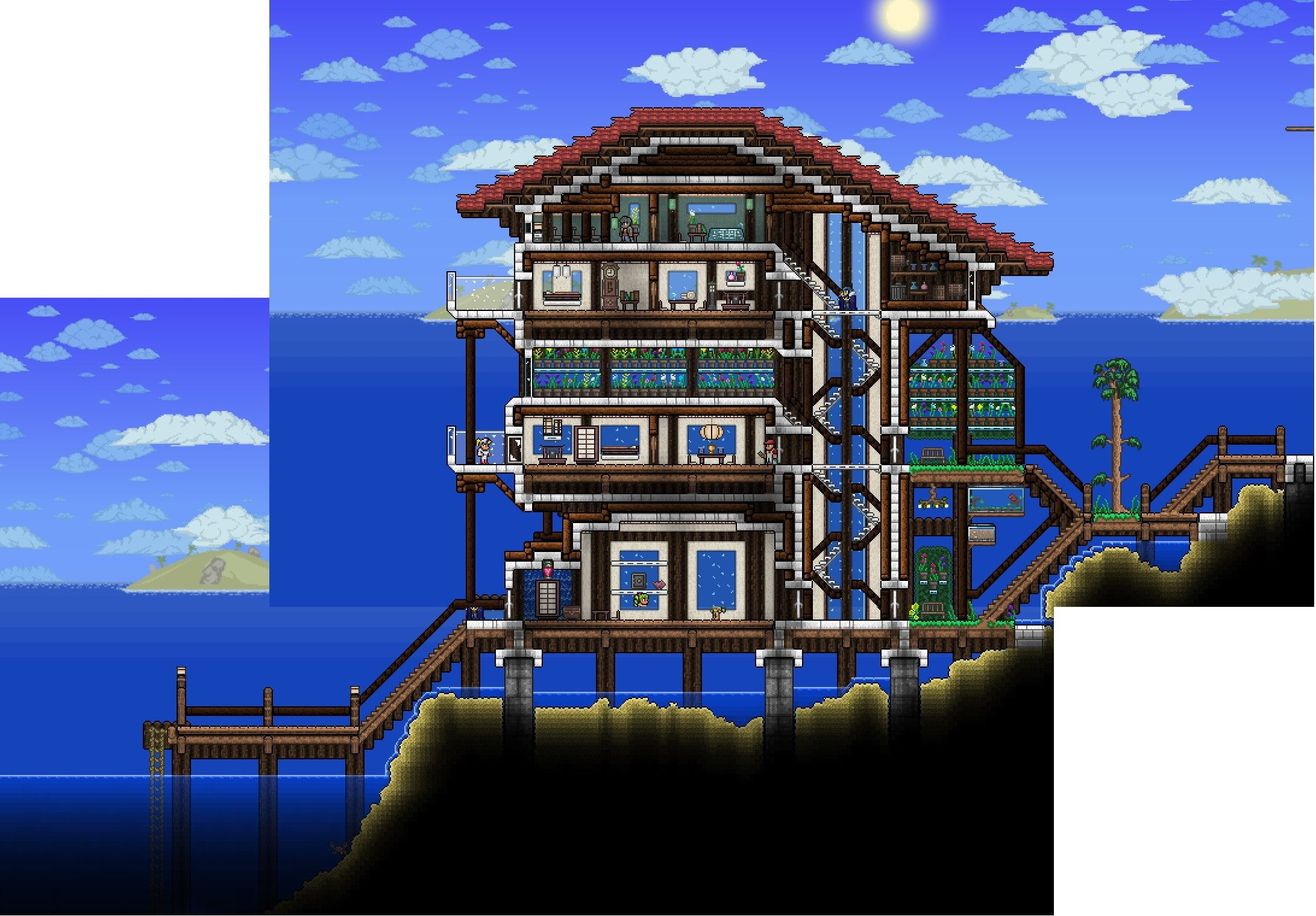 The most awesome images on the internet terraria gaming for Terraria house designs