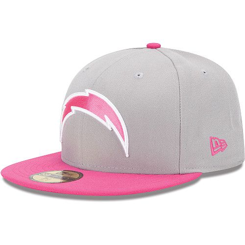 new product 5ffe4 6506c Men s New Era San Diego Chargers Breast Cancer Awareness On Field 59FIFTY®  Structured Fitted Hat