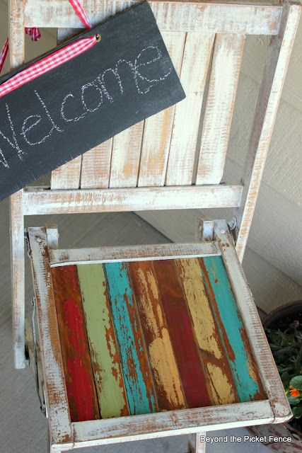 Beyond The Picket Fence Folding Chair Makeover Wood Folding