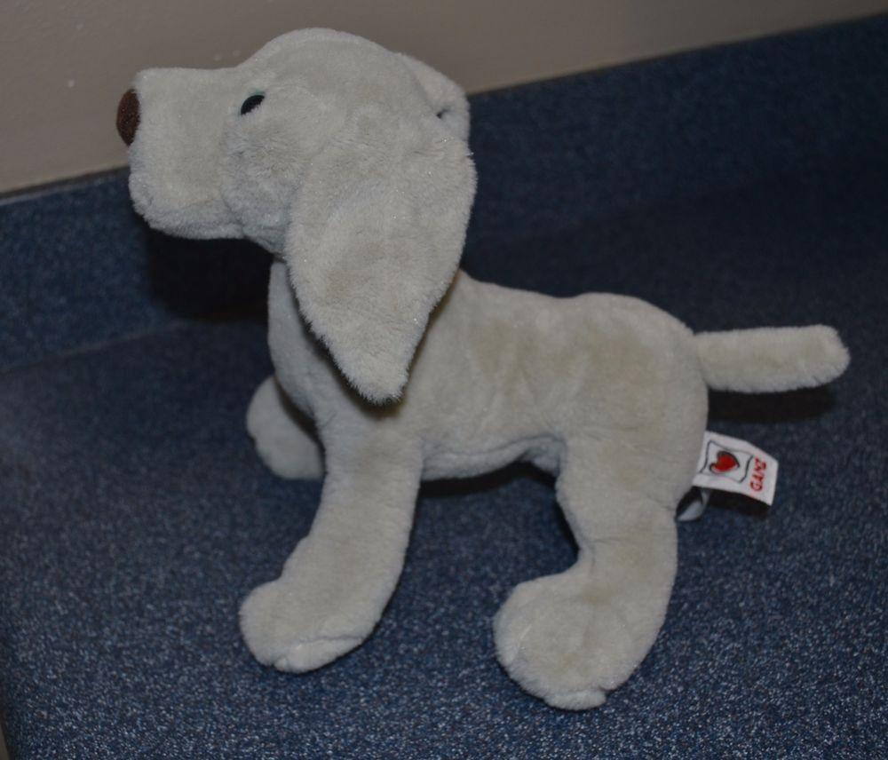 """Weimaraner Webkinz HM454 Ganz Stuffed Plush Dog Only No Code 10"""" #3C #GANZ"""
