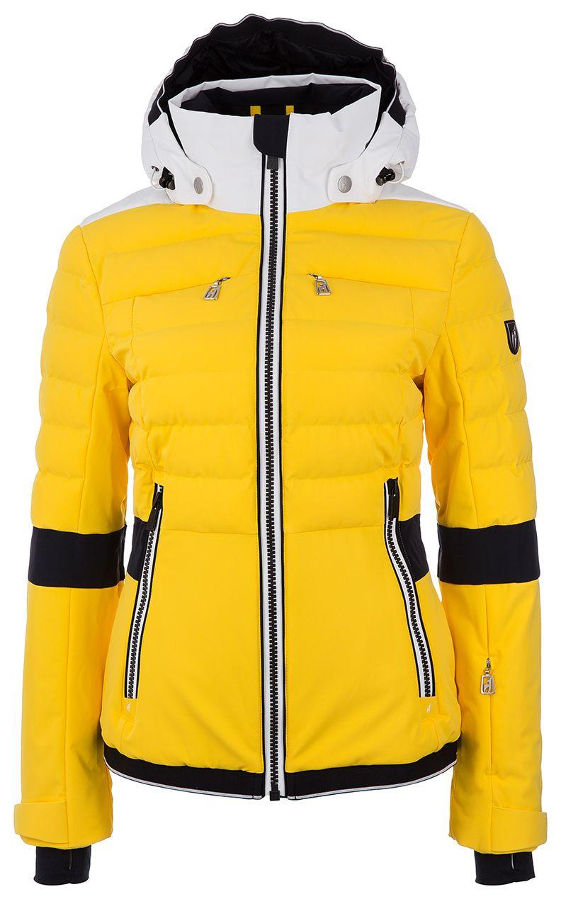 Toni Sailer Damen Skijacke Iris Solid Fire Orange bei