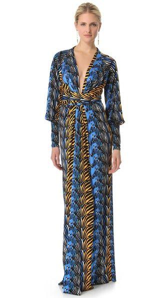 Issa Long Kimono Dress Amazing Silhouette And Bold Pattern Super Fun For Summer