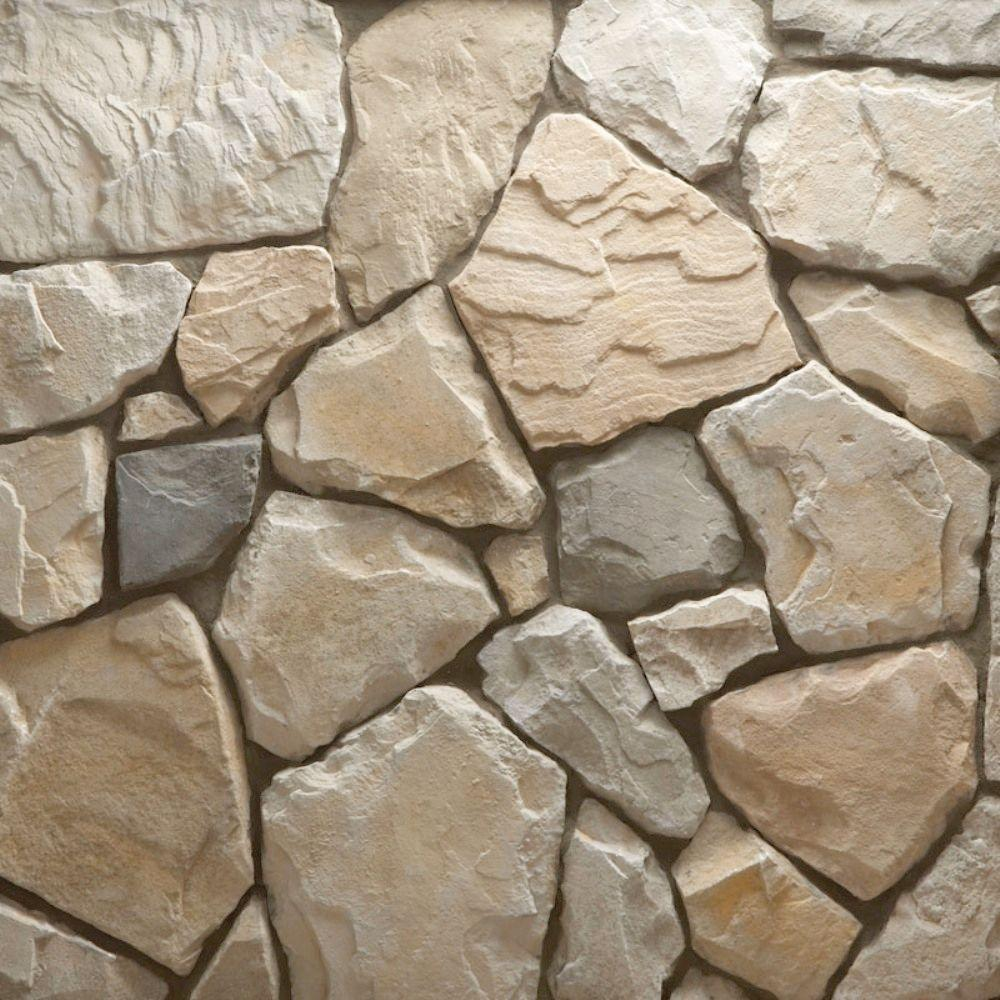 Veneerstone Field Stone Cascade Flats 10 Sq Ft Handy Pack Manufactured Stone 97446 The Home Depot Manufactured Stone Stone Veneer Stone Siding