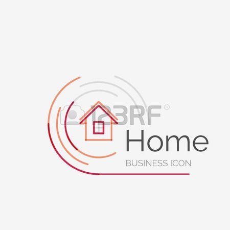 idea hogar Logotipo Inmobiliaria Lnea Fina Diseo Limpio Logotipo