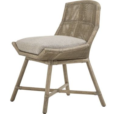 McGuire Furniture: Laura Kirar Maketto Side Chair: M-432 | rattan ...