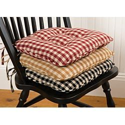 Classic Country Check Chair Pad Sturbridge Yankee Workshop Diy Chair Cushions Kitchen Chair Cushions Kitchen Chair Pads