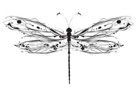 libellule de dessin abstrait — vecteur #29235293 … | tatouage | pinte…