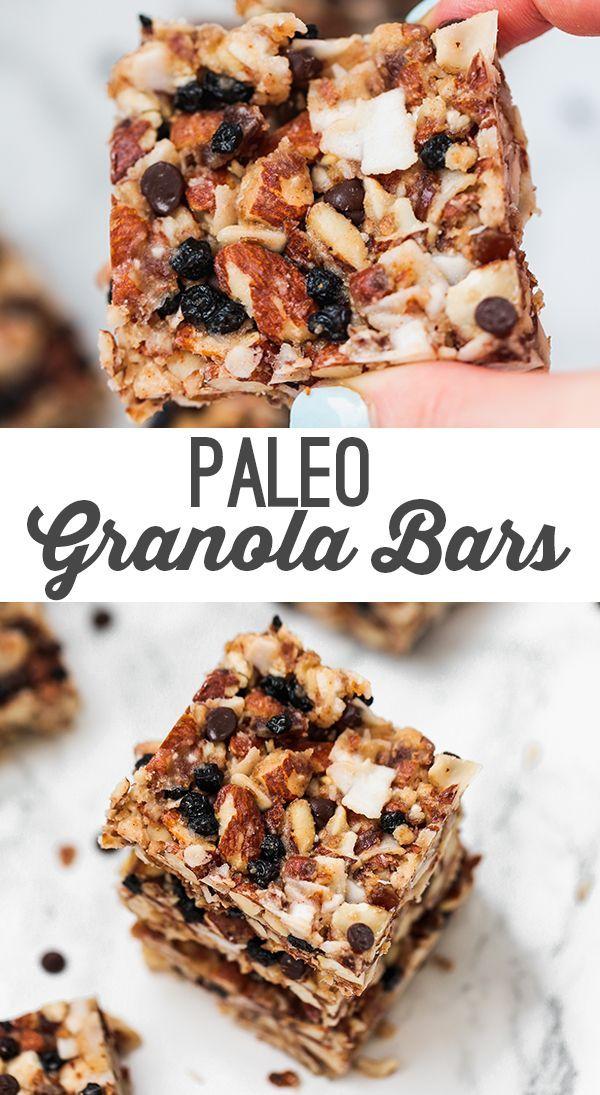 Paleo Grain Free Granola Snack Bars (AIP Option) images