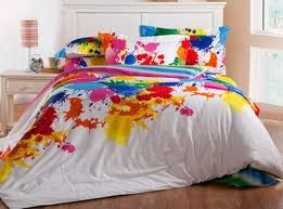 Splatter Paint Bedding Google Search For Kaia S Room Because She Is Amazing Cotton Bedding Sets Cotton Bedding Comforter Bed