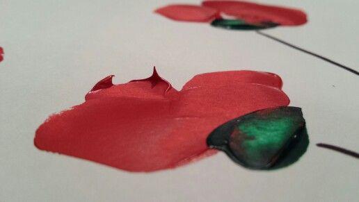 #EspaiBor #art #acrilico #roselles #amapolas #pintura