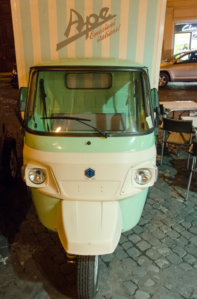 the piaggio ape, here in delivery van form spotted right round the