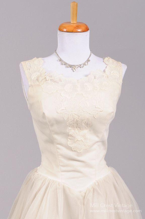 1950 Rose Tea Vintage Wedding Dress | Brautkleid