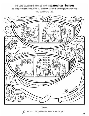 Jaredite Barges Coloring Books Scripture Journaling Barge