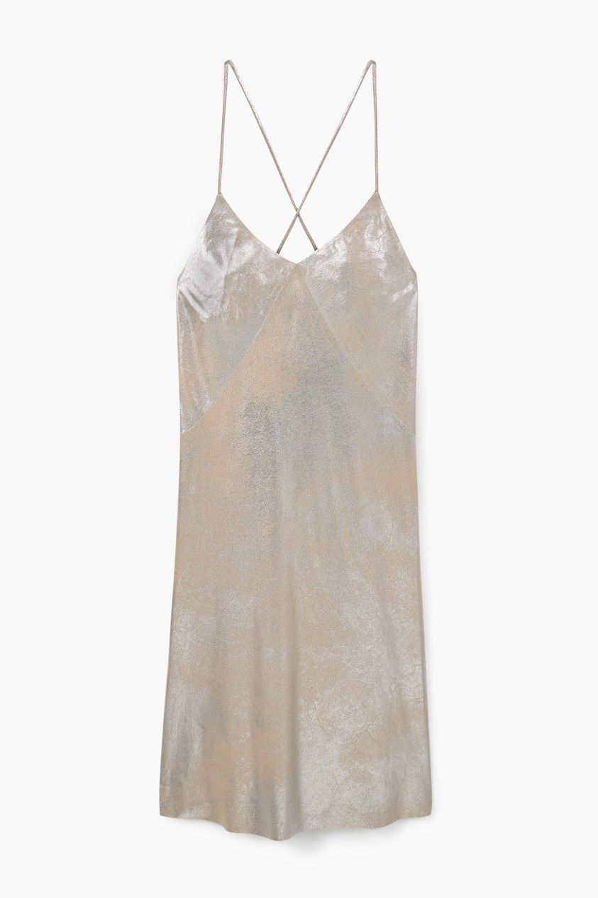 Metallic Dress, £49.99, MangoWe'll wear this with white sneakers