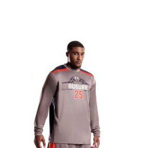 Mens Under Armour Auburn Tigers Shooters Shirt Long Sleeves