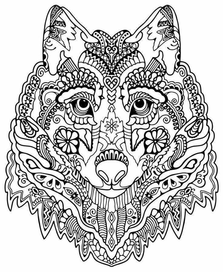 Epic Tribal Wolf Mandala Coloring Pages Animal Coloring Pages Animal Coloring Books